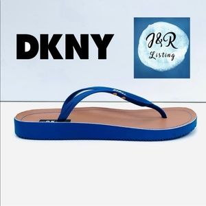 DKNY Madi Rubber Women's Blue Flats Sandals